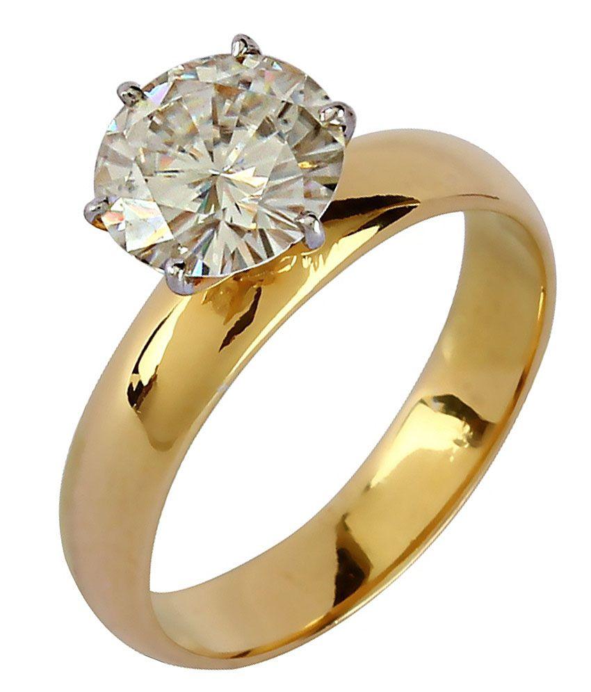 Diamos Golden Moissanite Exotic Ring