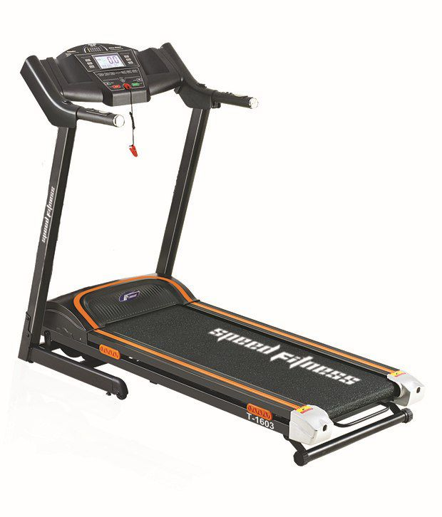 Life Fitness Treadmill Top Speed: Speed Fitness T1603 DC 3.5 HP Motorised Treadmill With