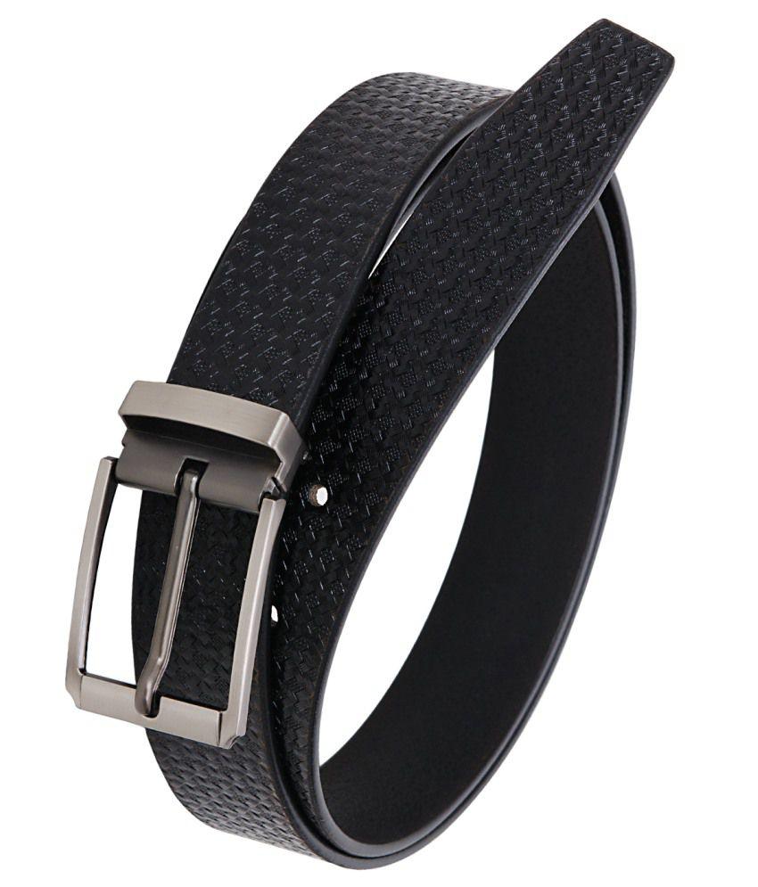 Hornbull Black Formal Belt For Men
