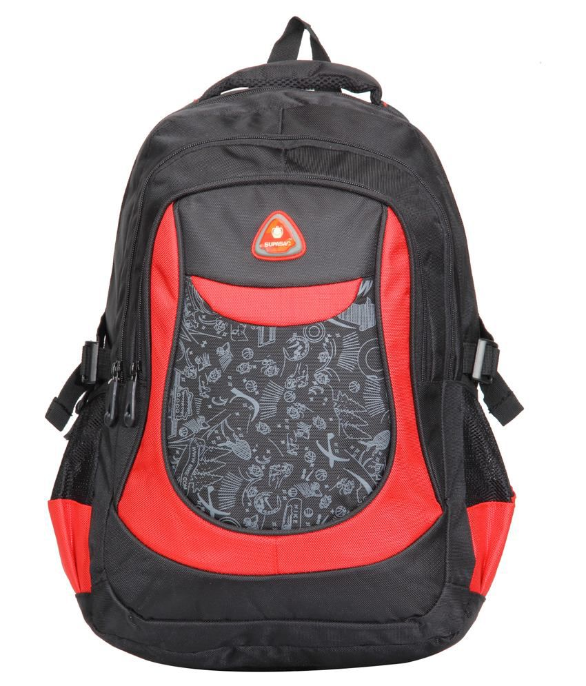 Supasac Multicolor Polyester Backpack