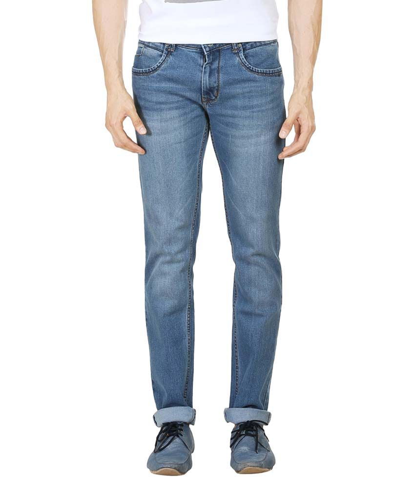 Blumerq Blue Regular Fit Jeans