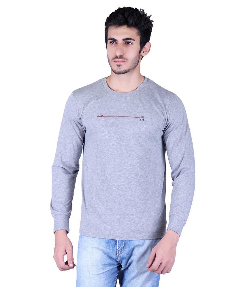 Vivid Bharti Grey Round T-Shirt