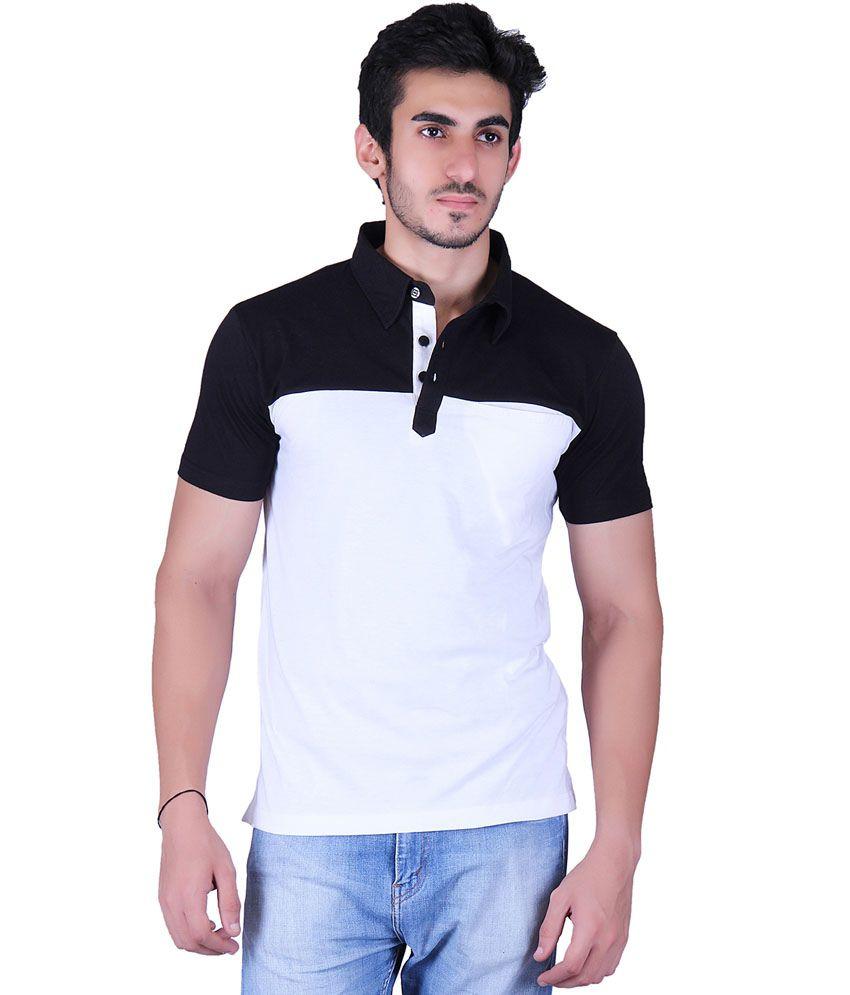 Vivid Bharti White Cotton Blend T-Shirt