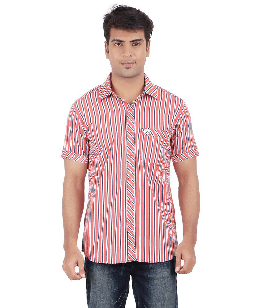 Anytime Red Casual Shirt