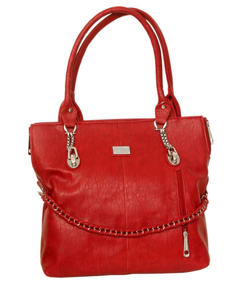Greek Sojourn Red Shoulder Bag