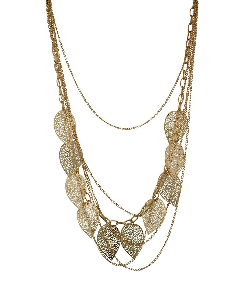 Osf Golden Alloy Necklace
