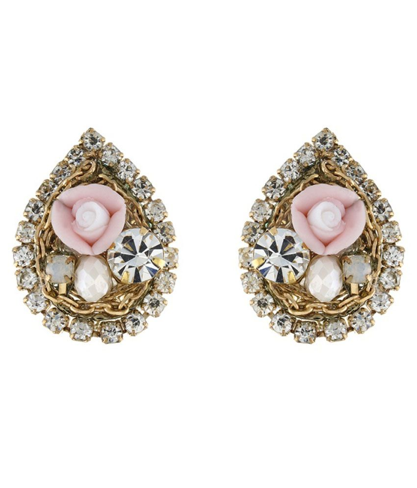 Osf Pink Alloy Stud Earrings