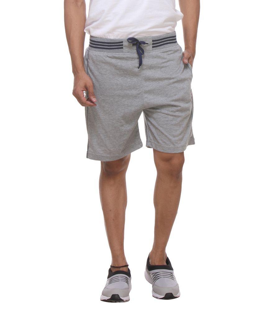 Rocker's Grey Cotton Shorts