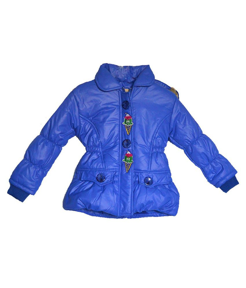 London Girl Blue Ice Cone Hooded Jacket For Girls