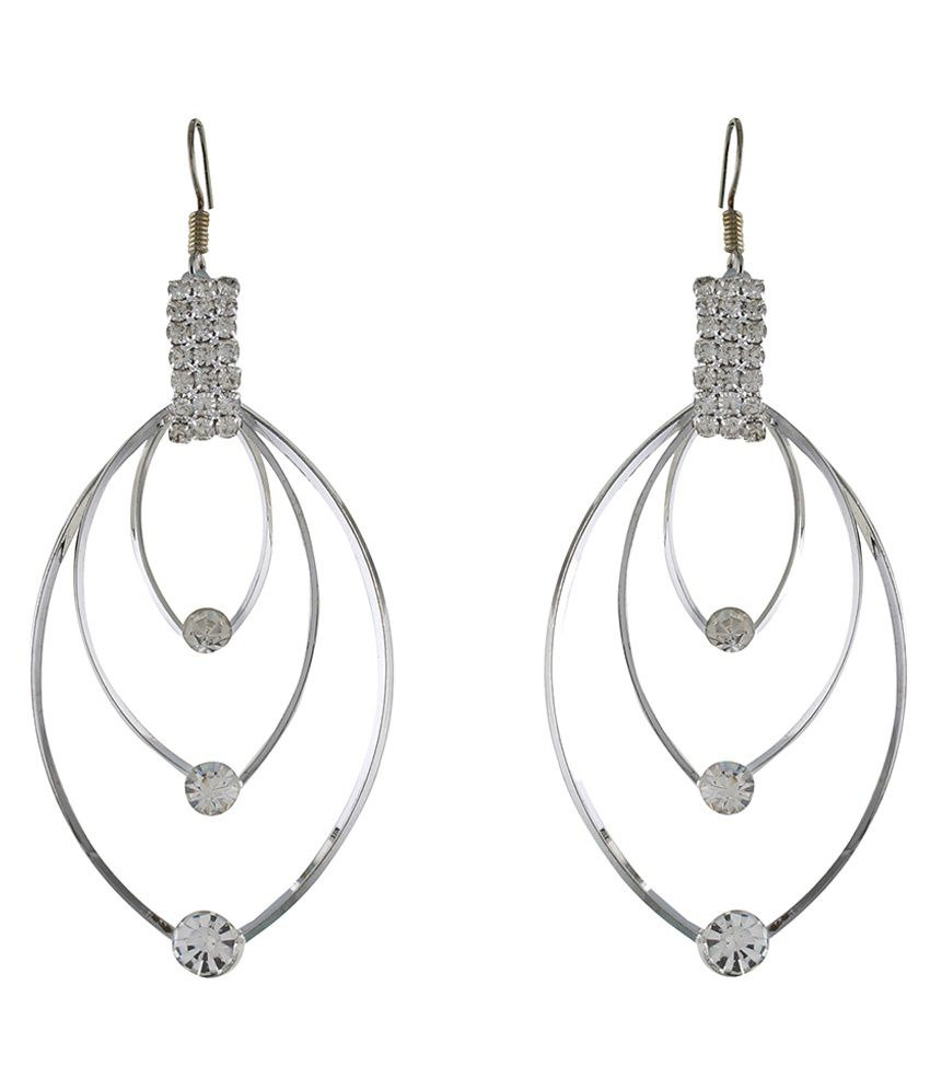 Osf Gray Alloy Hanging Earring
