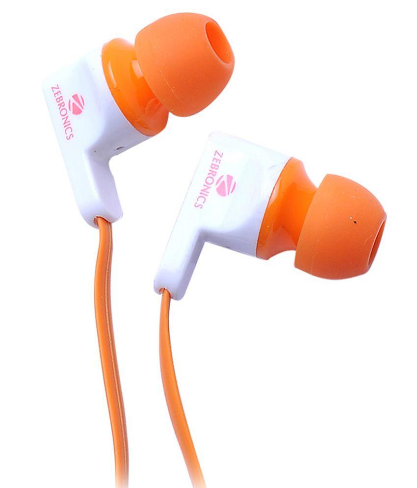 Zebronics EM950 In Ear Wired Earphones With Mic Orange