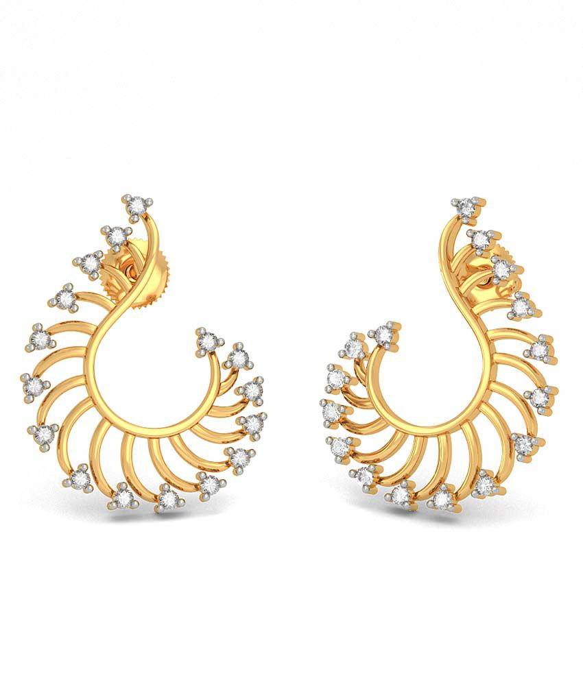 Bluestone 18kt Gold Diamond Abhirami Earrings