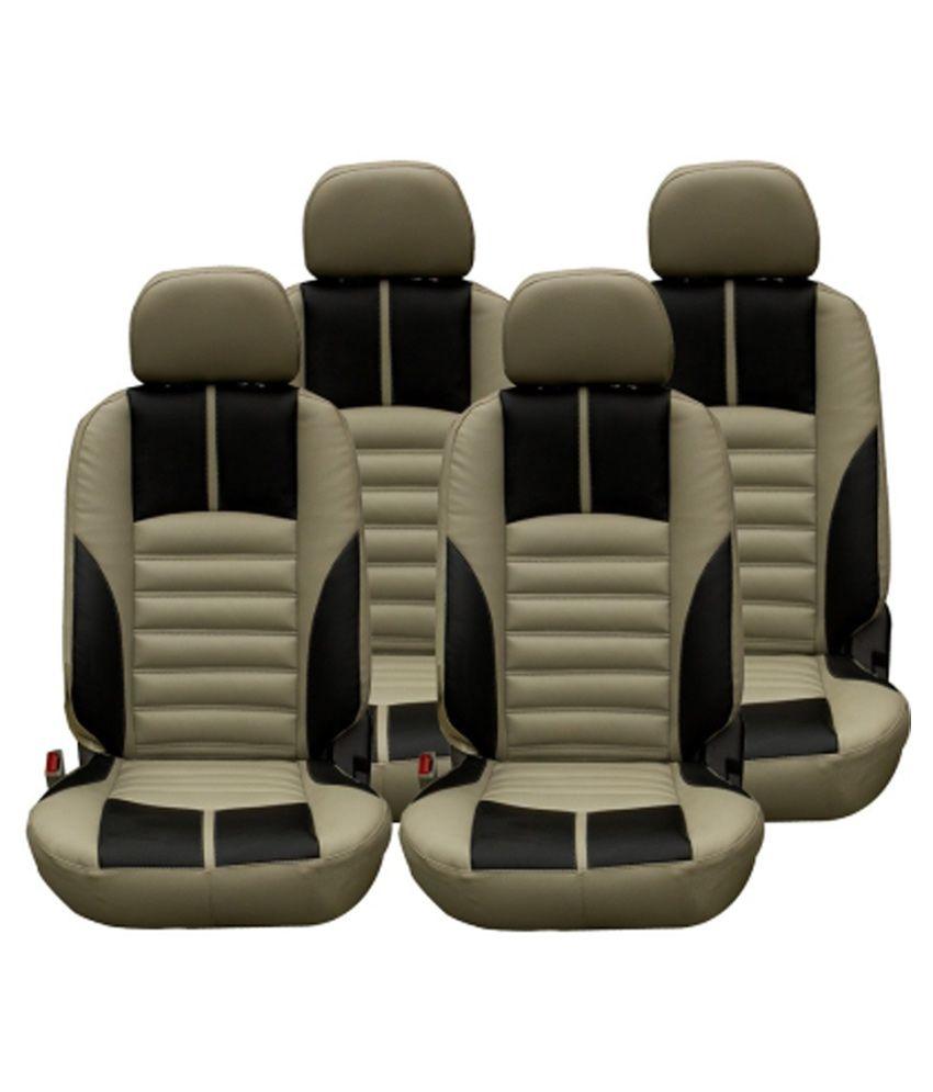 Elaxa Beige Leather Seat Cover For Maruti Swift Buy Elaxa