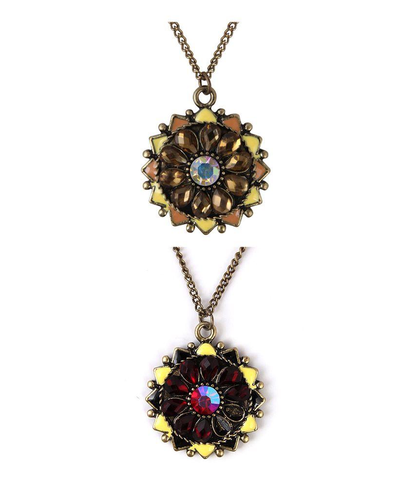 Jewelizer Multicolour Contemporary Alloy Necklace Set