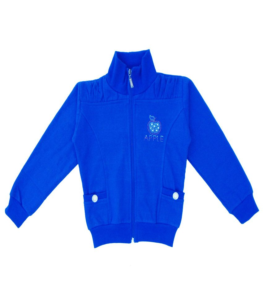 Sweet Angel Blue Color Zipper Sweatshirt For Kids