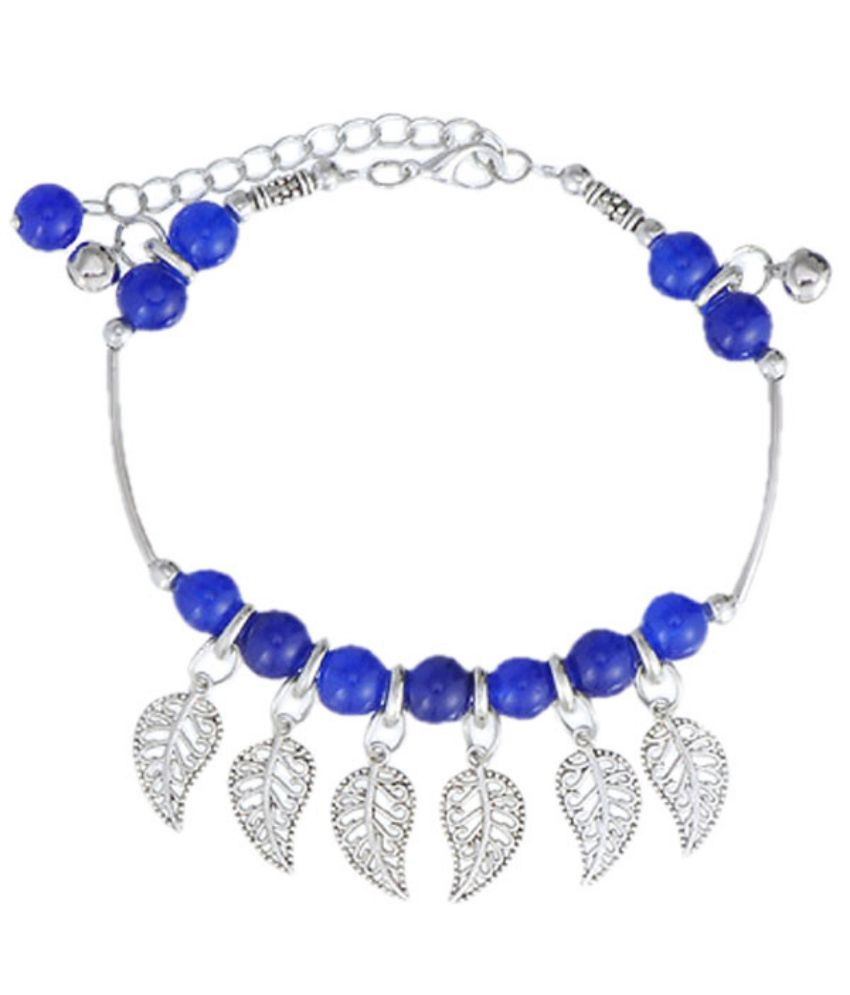 Young And Forever Blue Alloy Single Anklet