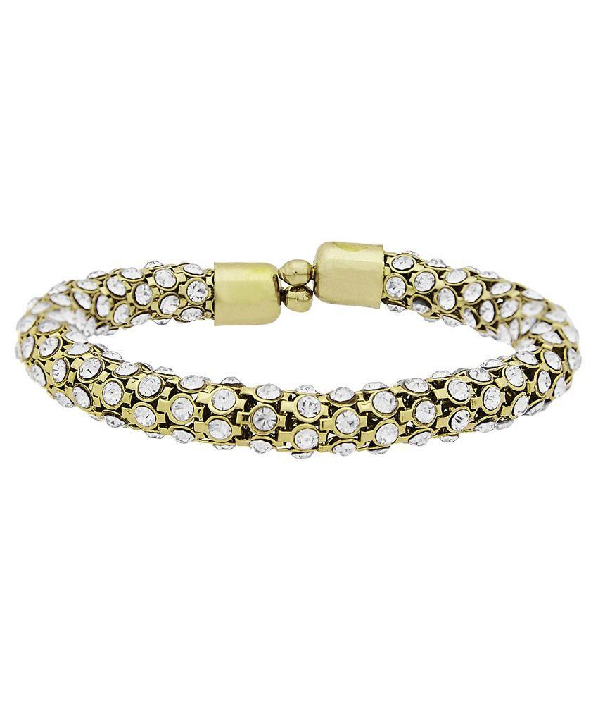 Adour Golden & Silver Alloy Bracelet