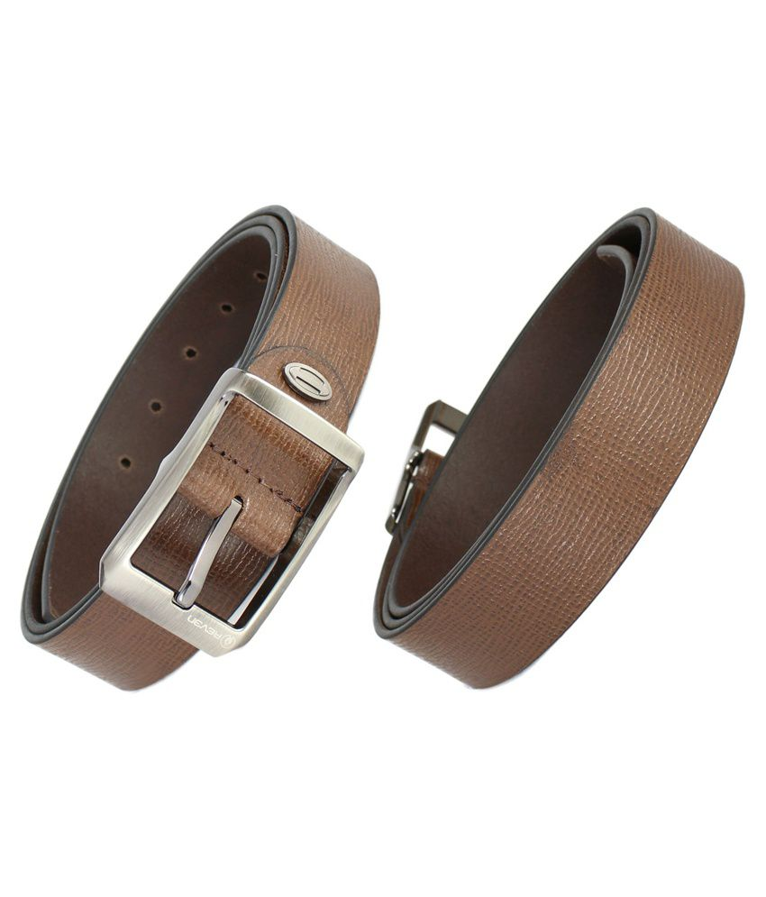 Reven Allium Casual Leather Belt - Brown (Kanpur Made)