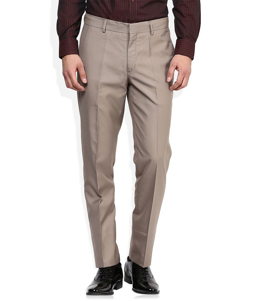 John Players Beige Formal Trouser