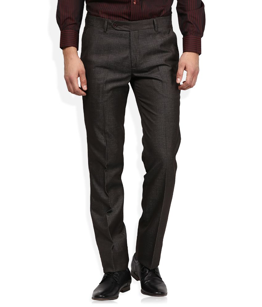 John Players Brown Formal Trouser