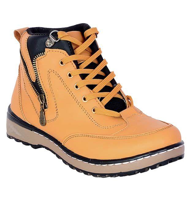 Aadi Beige Synthetic Leather Boots