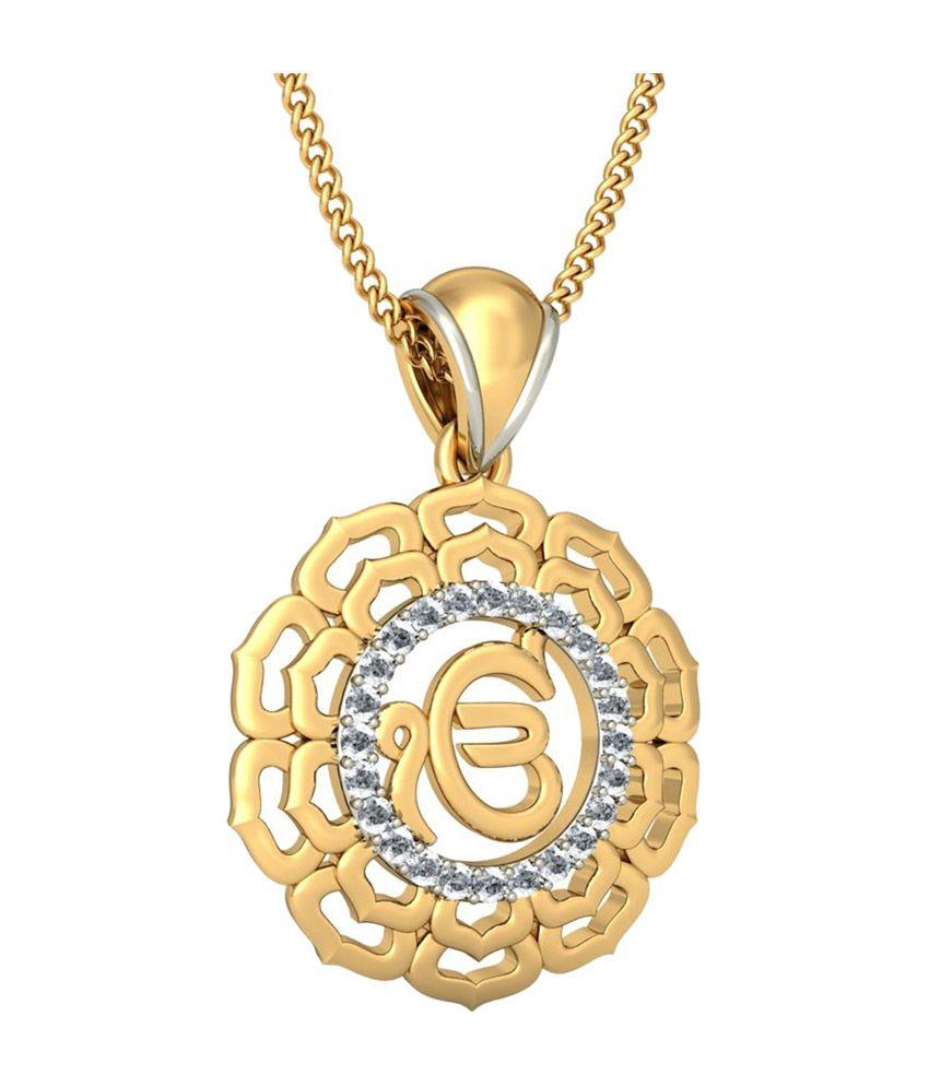 Bluestone 18kt yellow gold diamond divine ek onkar pendant buy bluestone 18kt yellow gold diamond divine ek onkar pendant aloadofball Choice Image