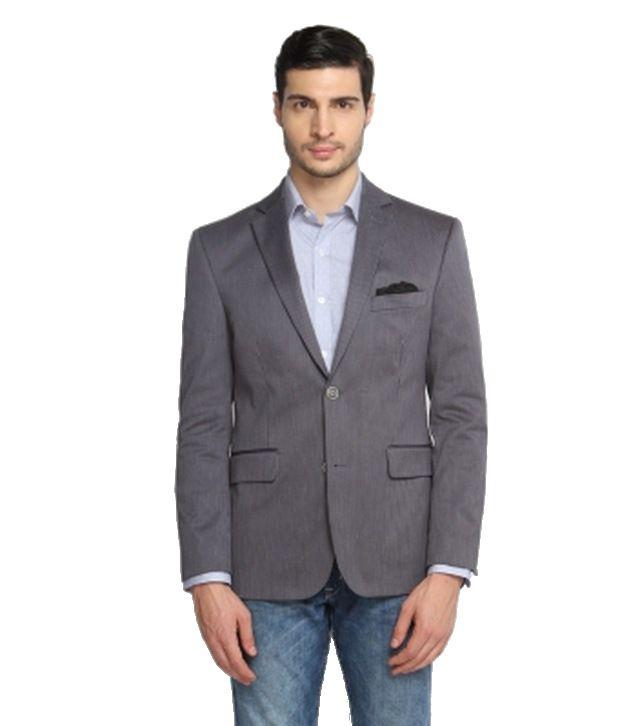 SUITLTD Grey Stripe Tailored Fit Jacket