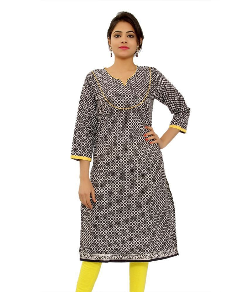 Silkworm Gray Cotton Kurti