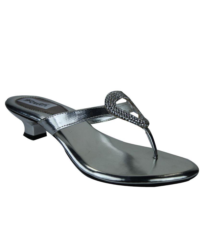 Faith Silver Block Heels
