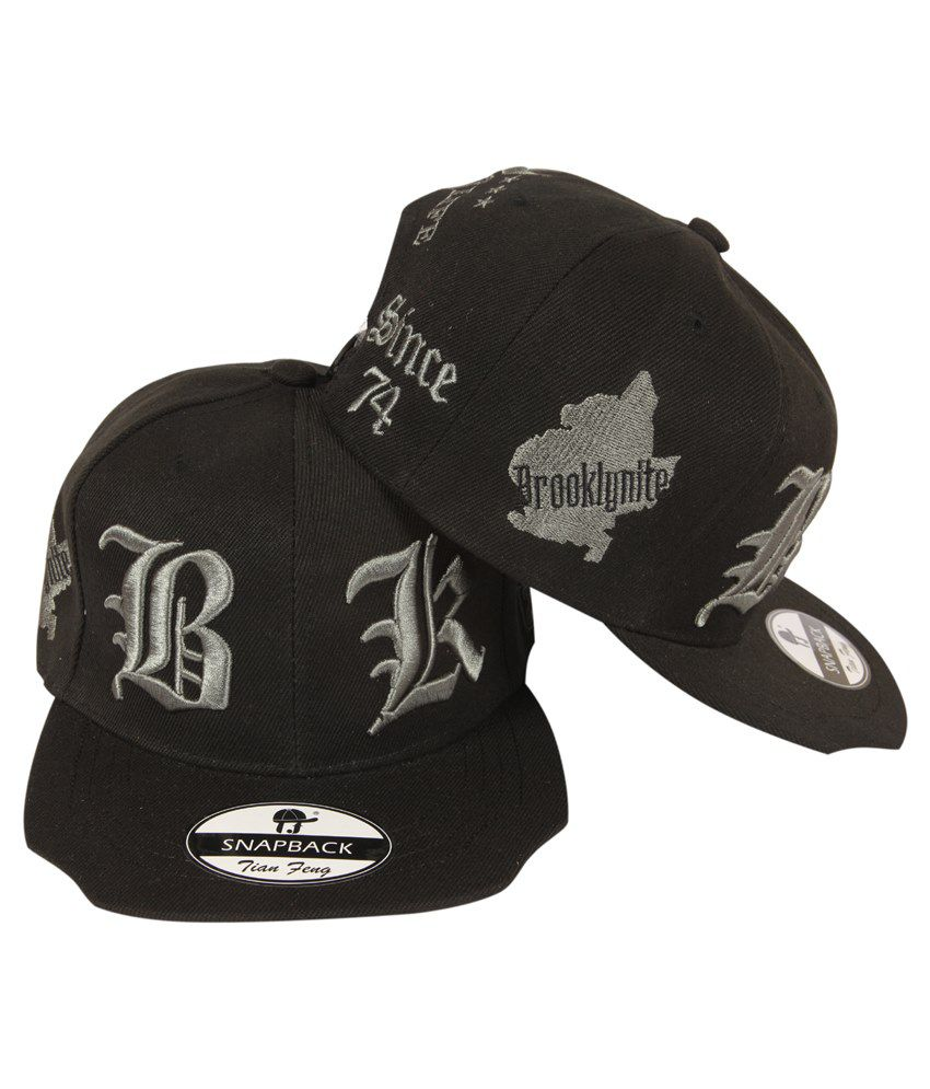 4238434eb5a41 Ilu Bk 3D Silver Embroidered Snapback Cap - Buy Online   Rs.