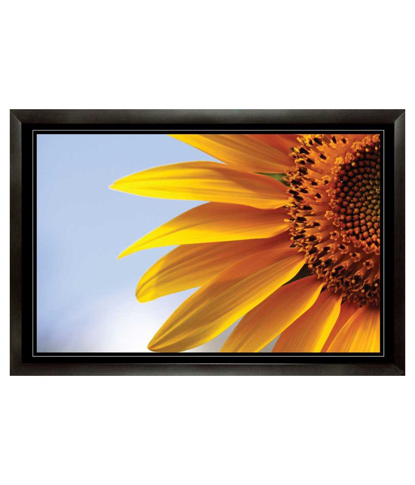 Mataye Graphics Sunflower with Frame