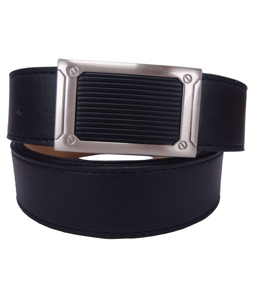 Revo Black Leather Formal Belt