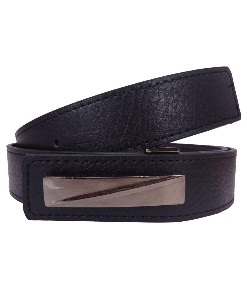 Revo Black Formal Belt for Men