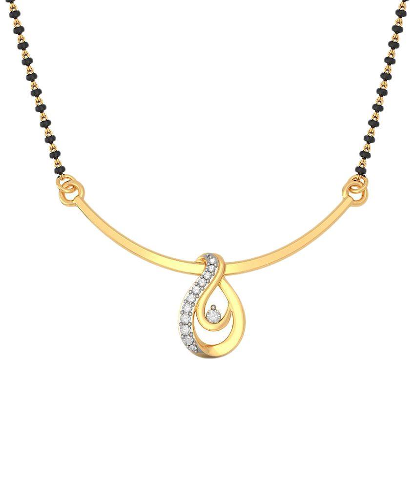 BlueStone 14 Kt Gold & Diamond Traditional Mangalsutra