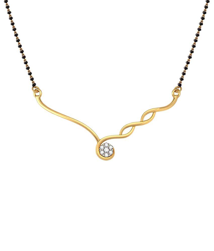 BlueStone 18 Kt Gold & Diamond Traditional Mangalsutra