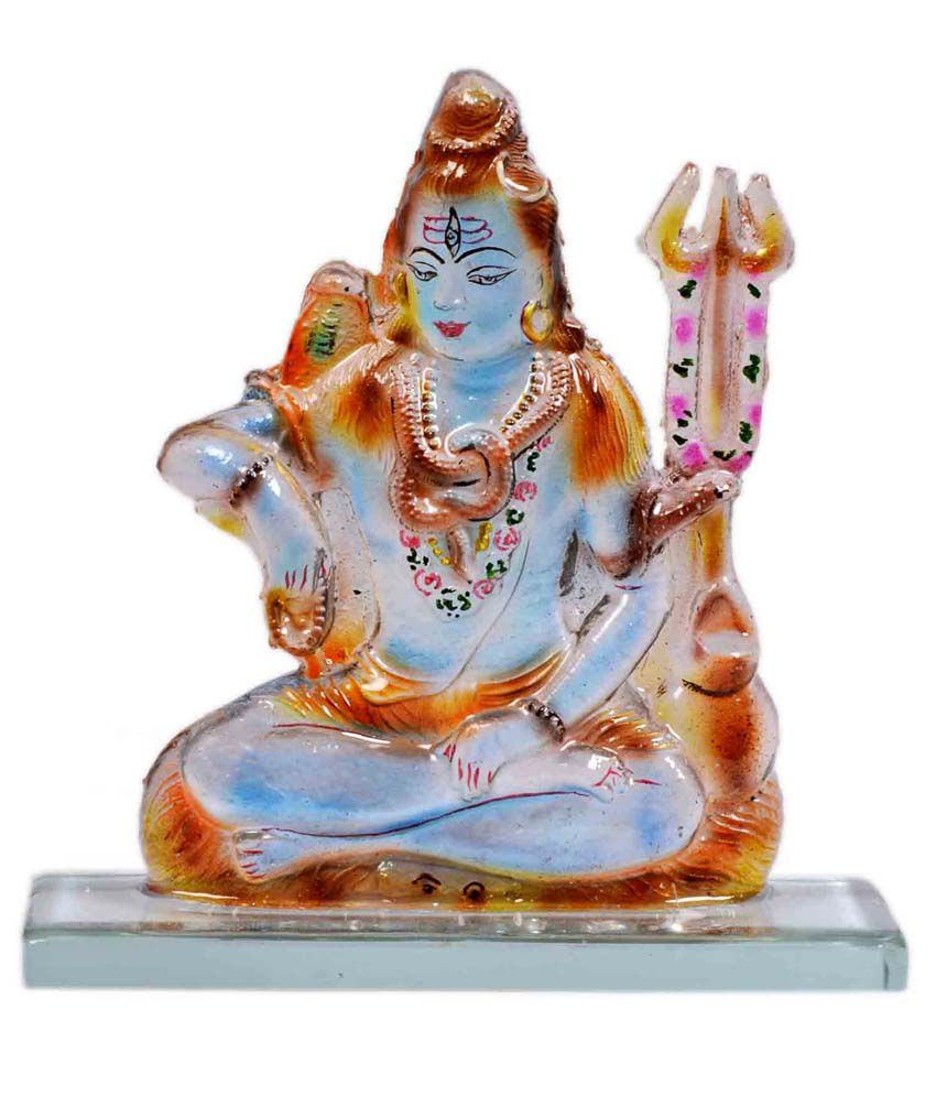 Kanch Mall Multicolour Resin Lord Shiva Idol