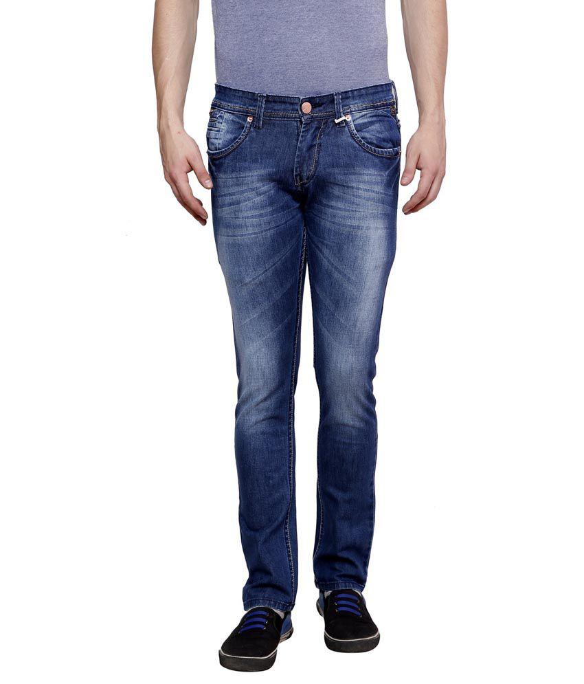 Zaab Blue Slim Fit Jeans