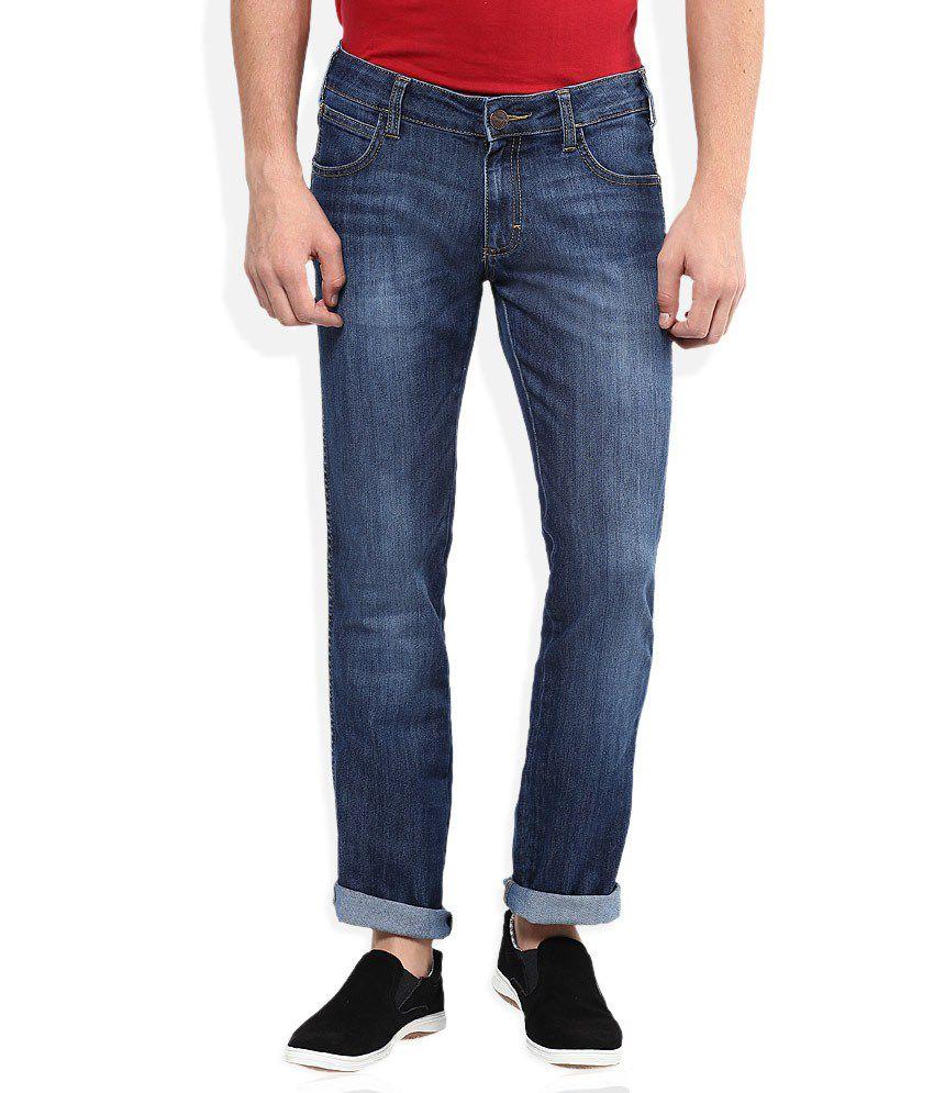 Crus Lee Blue Regular Fit Jeans