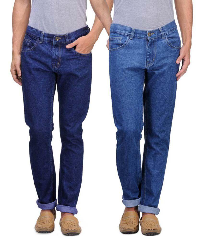 Jovial Mart Blue Slim Fit Jeans - Pack Of 2