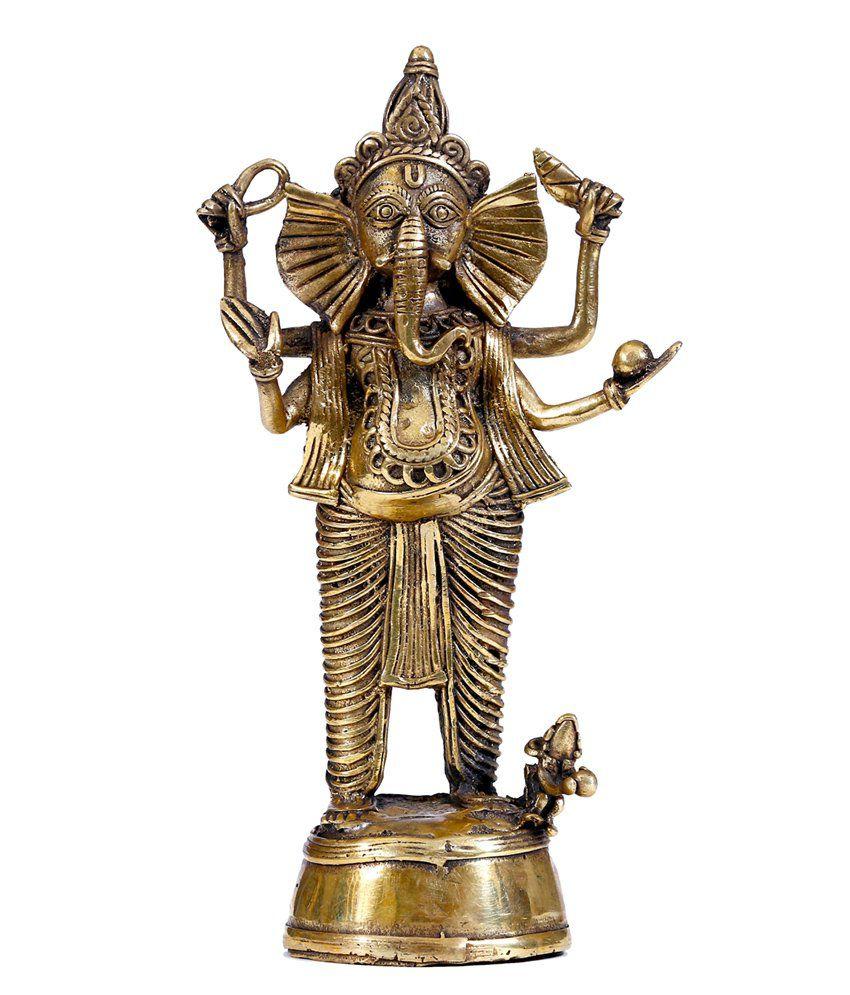 Manjusha Dokra Metal Goddess Ganesh (Small)