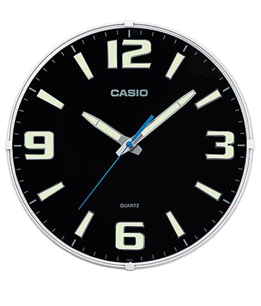 Casio Black Plastic Wall Clock