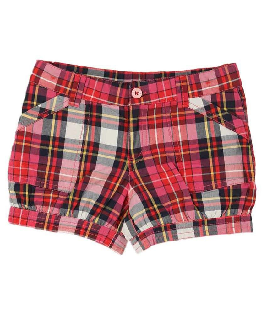 Lilliput Red Cotton Shorts