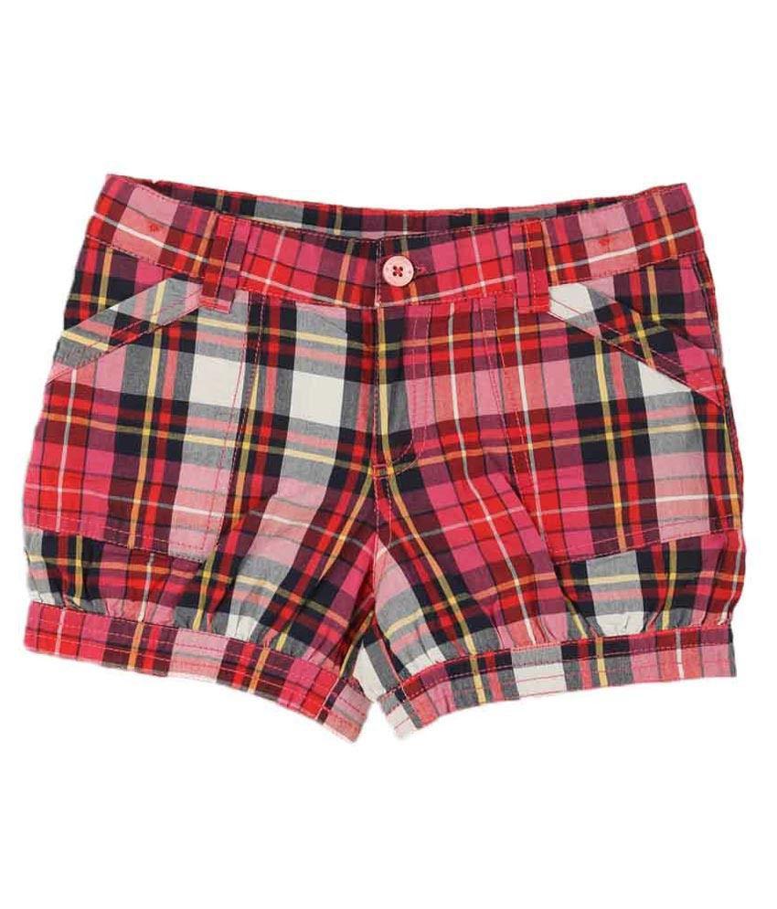 Lilliput Red Cotton Shorts
