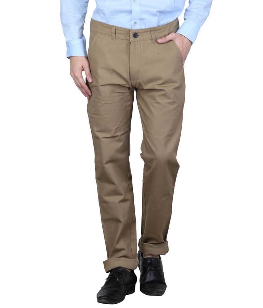 Ketley Beige Regular Fit Casual Chinos