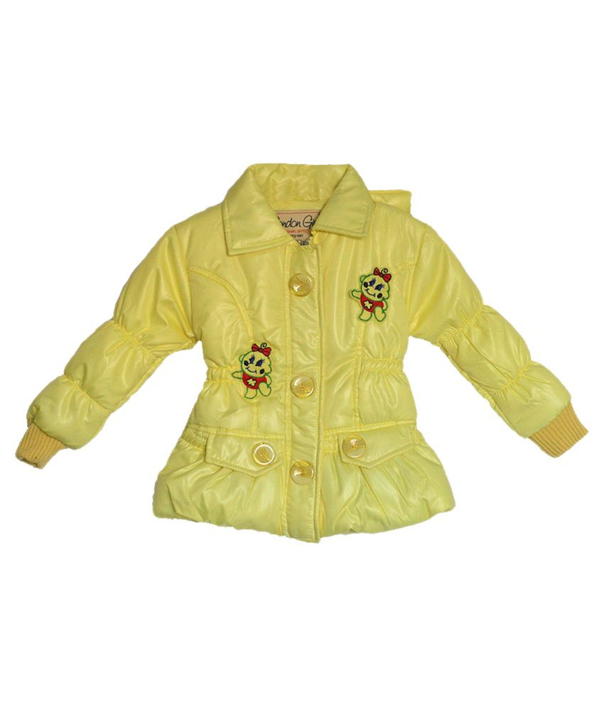 London Girl Light Yellow Hooded Jacket for Little Doll