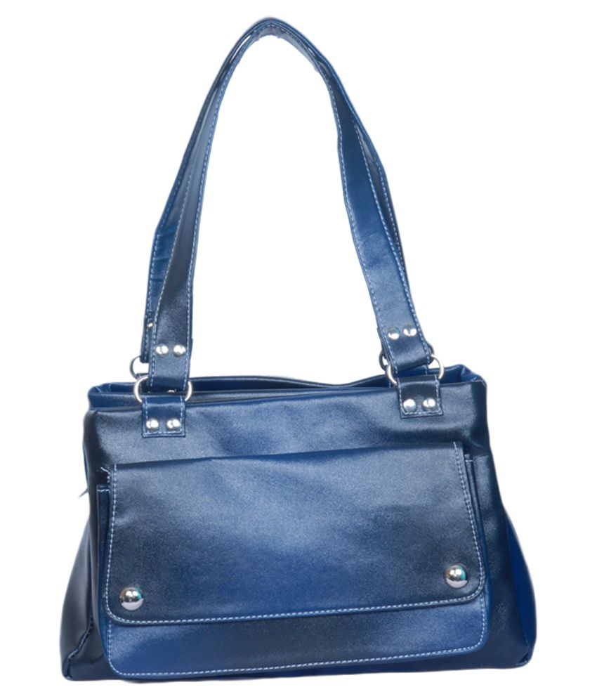 Vs Creation Blue Shoulder Bag