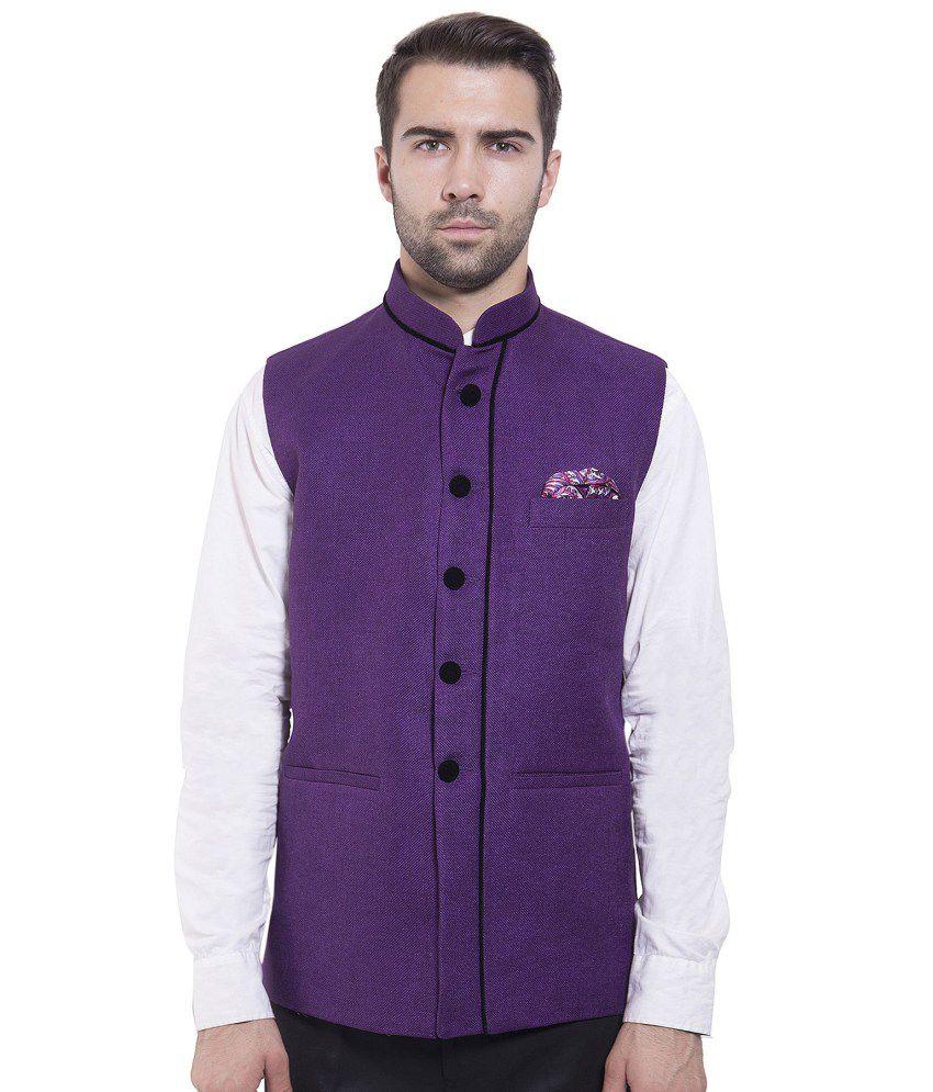 Wintage Purple festive Waistcoats