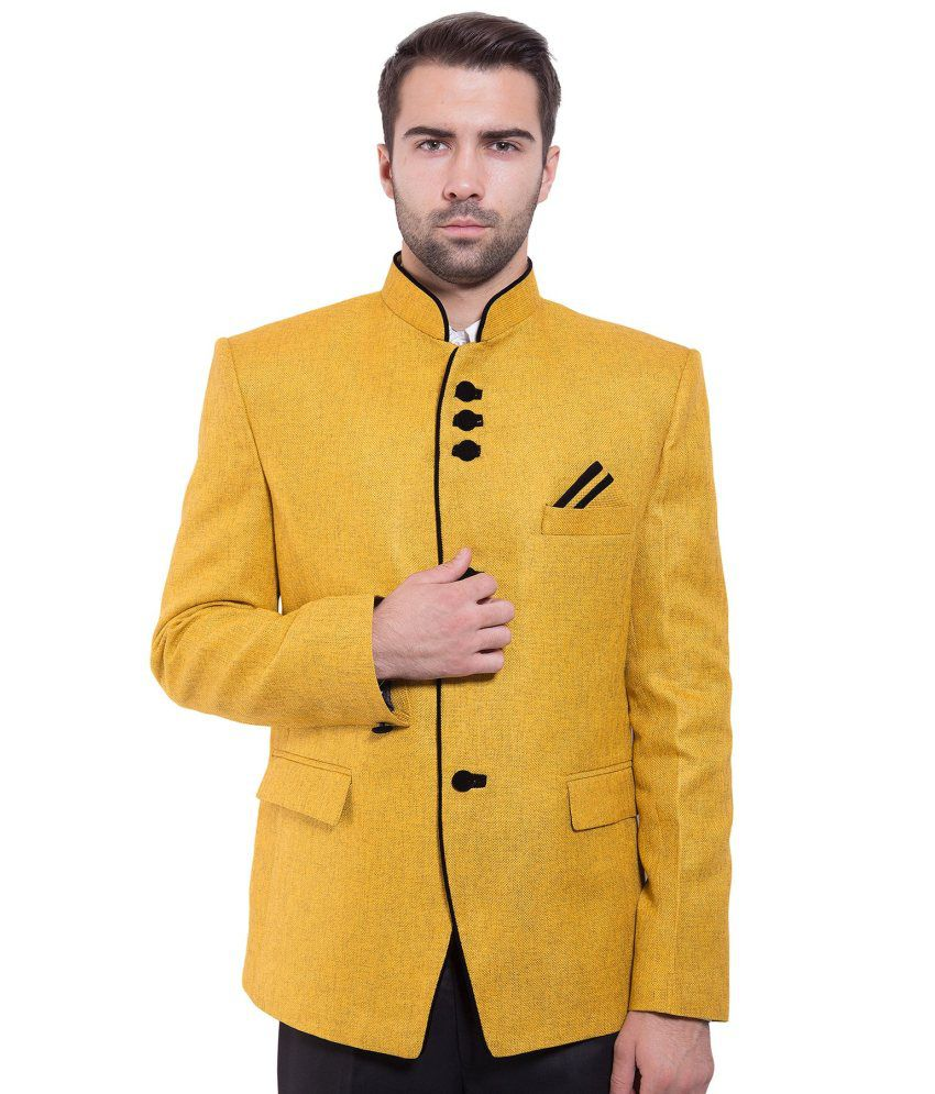 Wintage Yellow festive Blazer