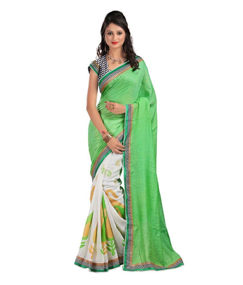 Ravi Designer Sarees Green Art Silk Saree