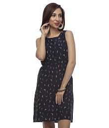 At499 Blue Polyester Dresses